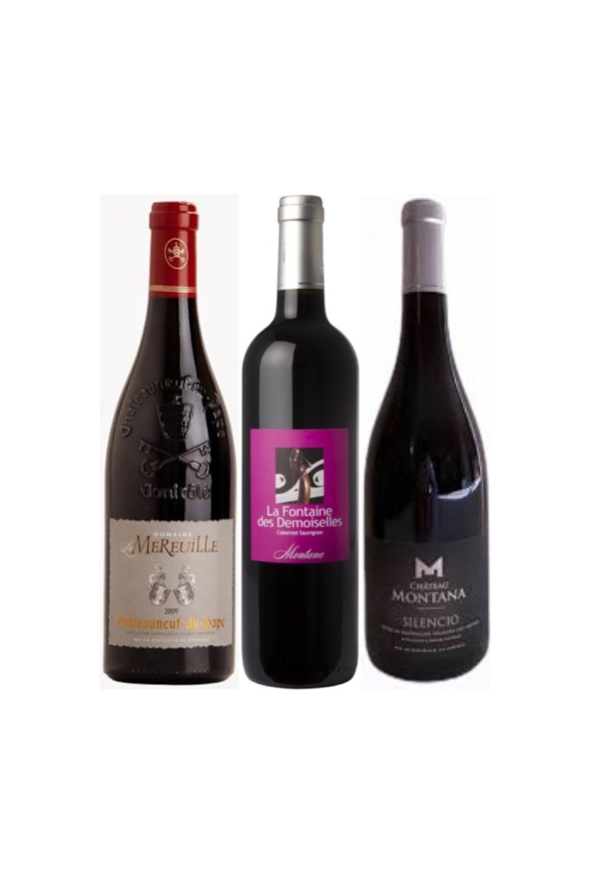 【BEAUTIFUL FRENCH WINE OFFER】Chateauneuf du Pape Plus 2 bottles of Chateau Montana at $138