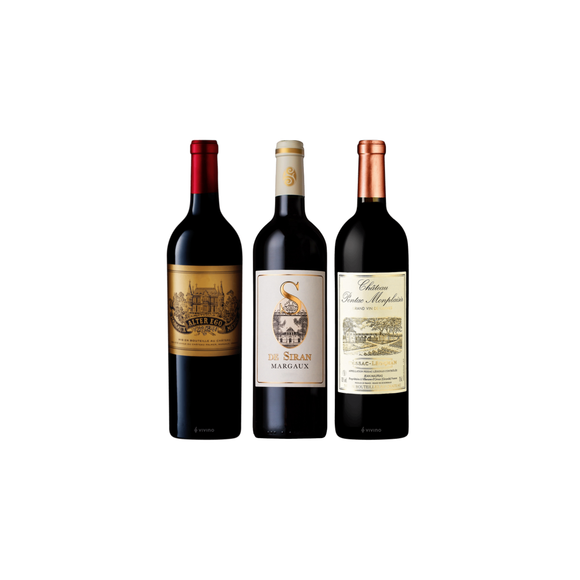 Enjoy 3 Bottles of French Red Wine From Margaux and Pessac Leognan at Only $199
