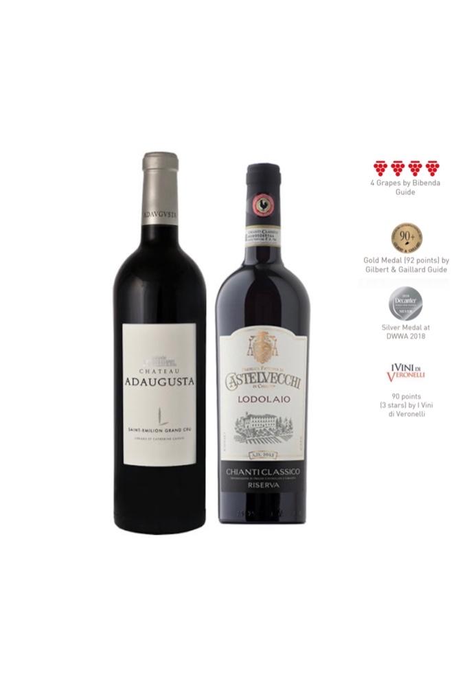 Enjoy Chianti Classico Riserva DOCG 2016 + Saint Emilion Grand Cru 2016 at Only $99
