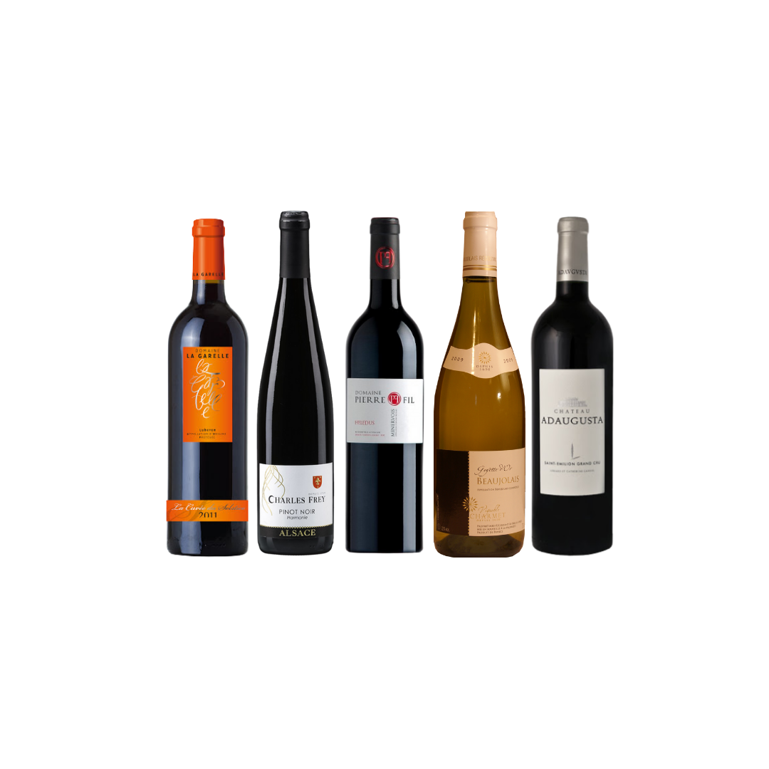 4 Exclusive French Wine With FREE DELIVERY For Only $108 And Top-Up $48 for A bottle of Adaugusta worth $68