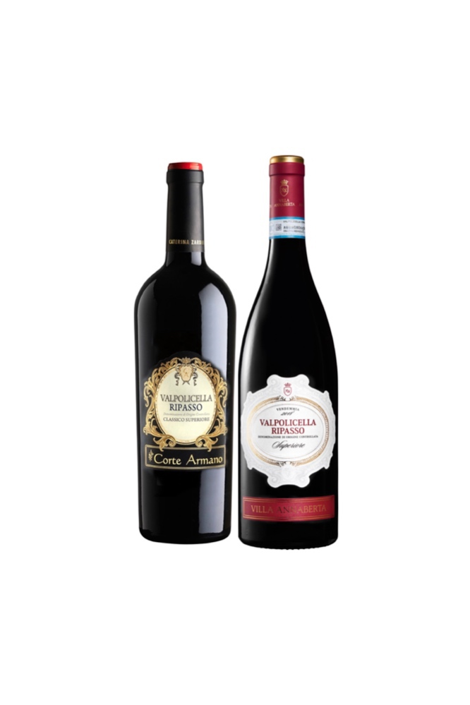 【Ripasso Special Sets】Corte Armano Valpolicella Ripasso + Villa Annaberta Ripasso della Valpolicella at only $98 and get Free USB Electric Wine Opener