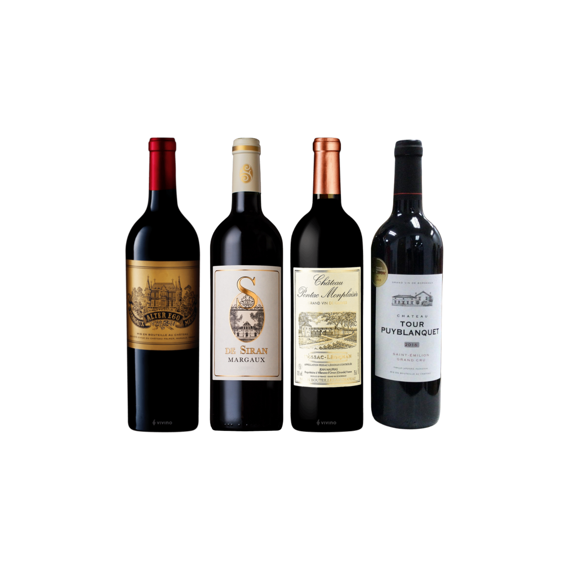 Enjoy 3 Bottles of French Red Wine From Margaux and Pessac Leognan at Only $199 And Top-Up $42 for A Bottle of Saint Emilion Worth $48