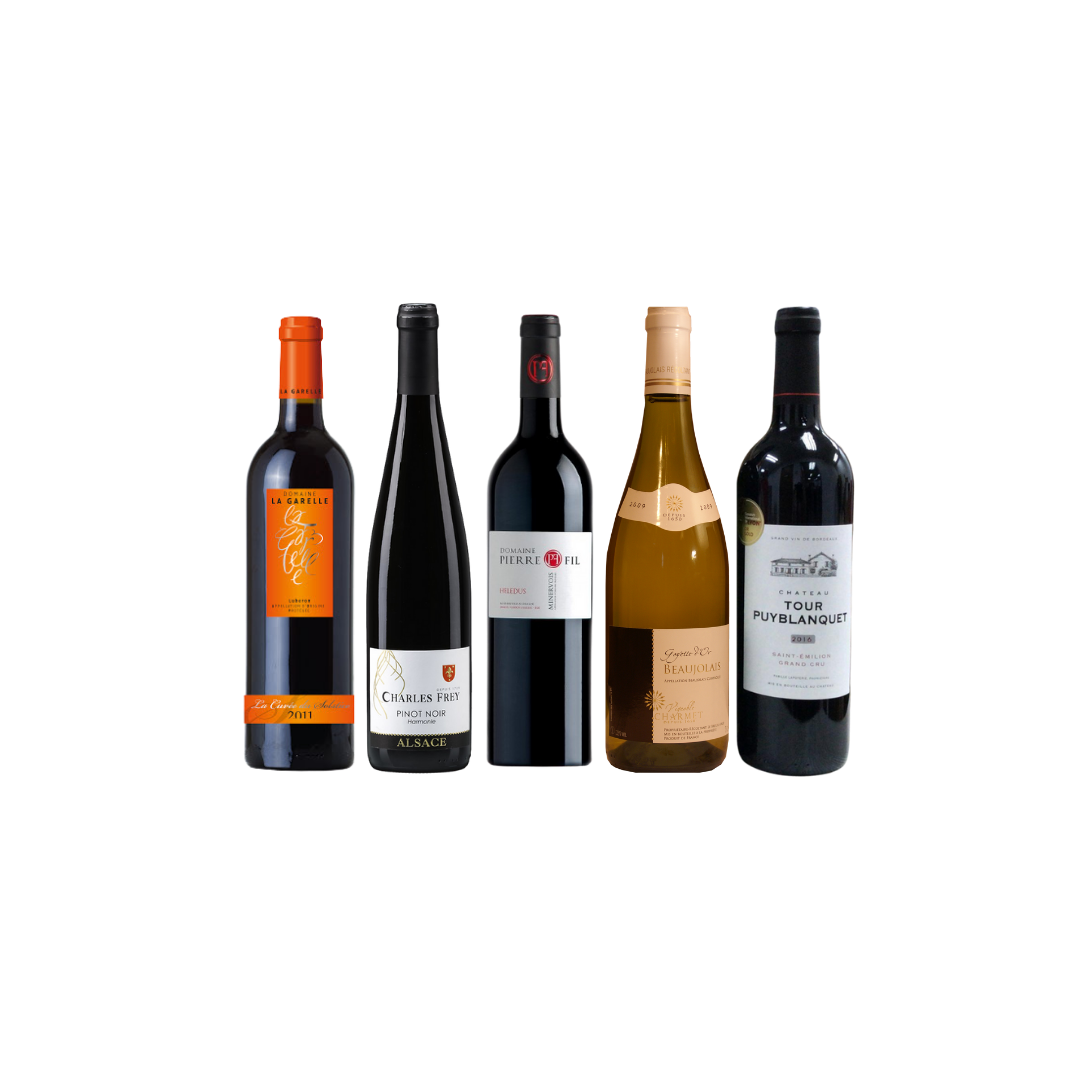4 Exclusive French Wine With FREE DELIVERY For Only $108 And Top-Up $42 for A bottle of Puyblanquet worth $48