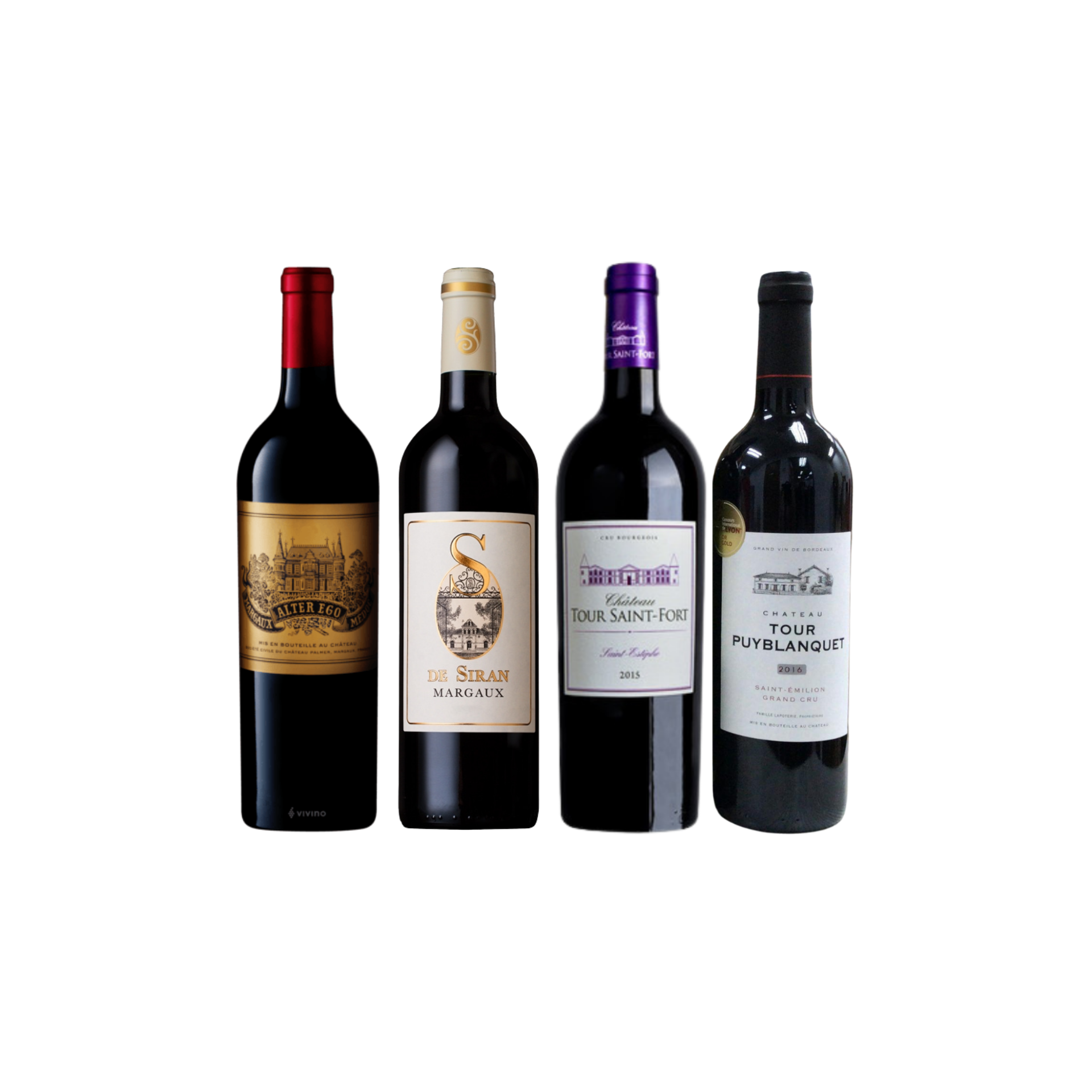 Enjoy 3 Bottles of French Red Wine From Margaux and Saint-Estephe at Only $199 And Top-Up $42 for A Bottle of Saint Emilion Worth $48