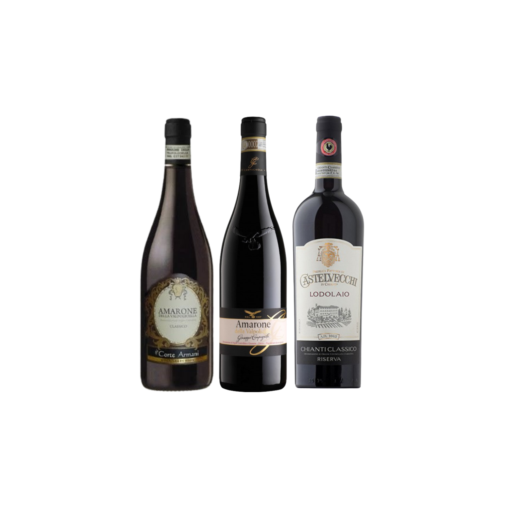 【Bundle A】 Enjoy 2 Bottles of Amarone Plus Chianti Riserva At Only $234 With A Free Set of 6 Schott Zwiesel Wine Glass worth $90