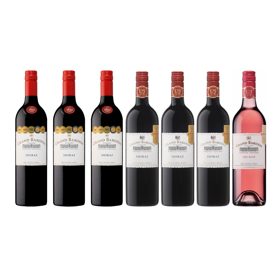 【Discovery Collection Wine Bundle】6 Bottles of Chateau Tanunda Grand Barossa Shiraz at Only $216 And get A FREE Bottle of Rose