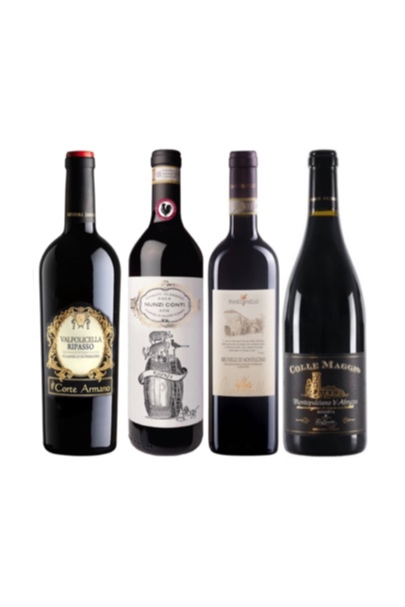 4 Premium Italian Red Wine Tasting Bundle with a free wine Chiller (worth $199) at only $368