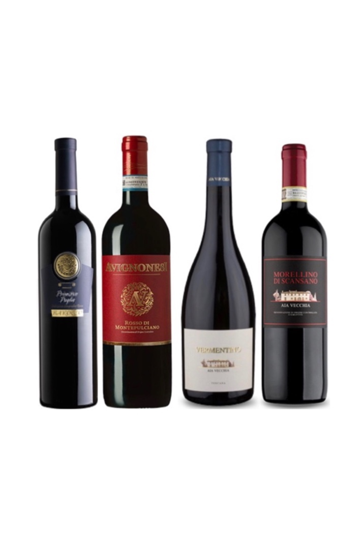 4 Italian Red and White Wine Tasting Bundle at only $188