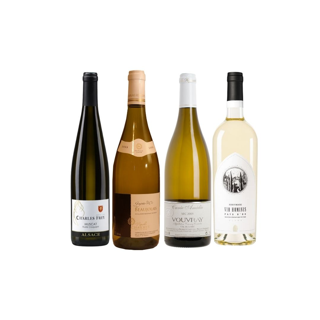 Enjoy 4 Bottles of French White Wine at Only $108 (UP$192)