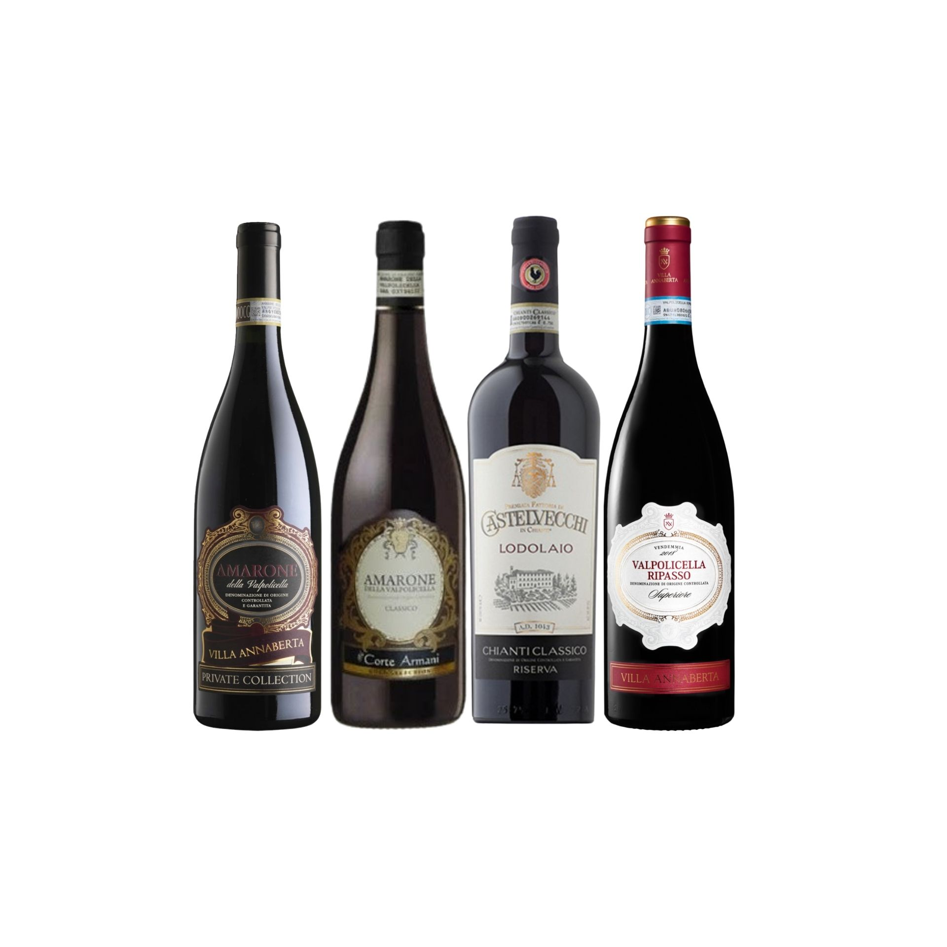 【Bundle B】 Enjoy 2 Bottles of Amarone Plus Chianti Riserva At Only $244 With A Free Set of 6 Schott Zwiesel Wine Glass worth $90 And Top-Up $48 for A Bottle of Ripasso Worth $60