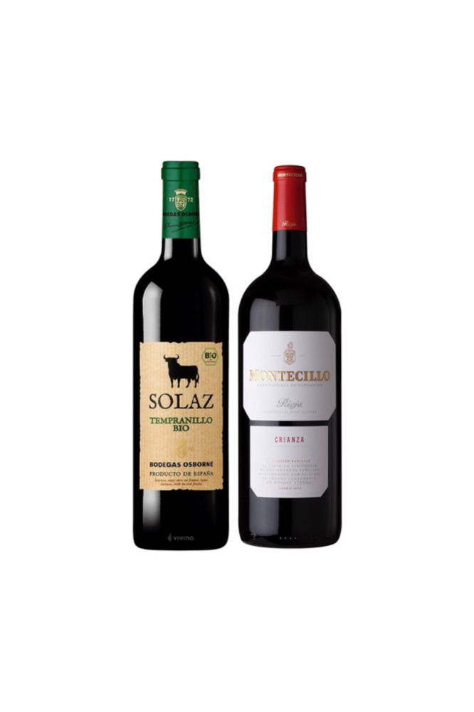 Special Offer for Spanish Wine ! Osborne Solaz Tempranillo + Montecillo Rioja Crianza at Only $58 !