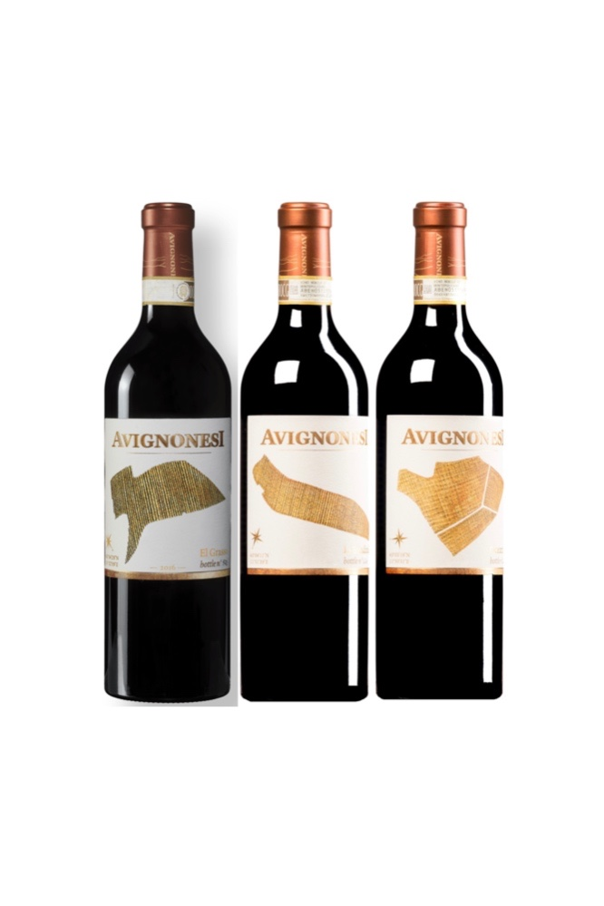 3 Bottles of Italian Wine from Avignonesi and get Free Set of 6 Wine Glass worth $90