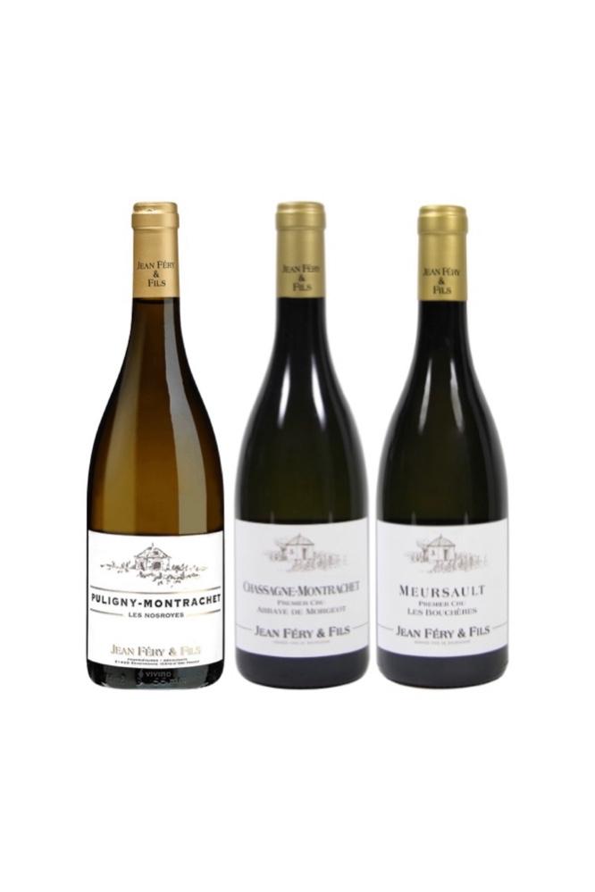 Jean Fery & Fils Award Winning Burgundy White Bundle With 2 Premier CRUs - 3 Bottles At Only $284 (UP $374)