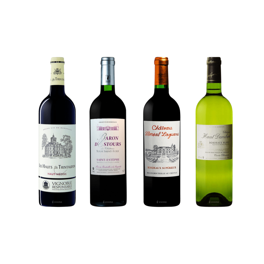 4 Exclusive French Bordeaux Wine With FREE DELIVERY For Only $108