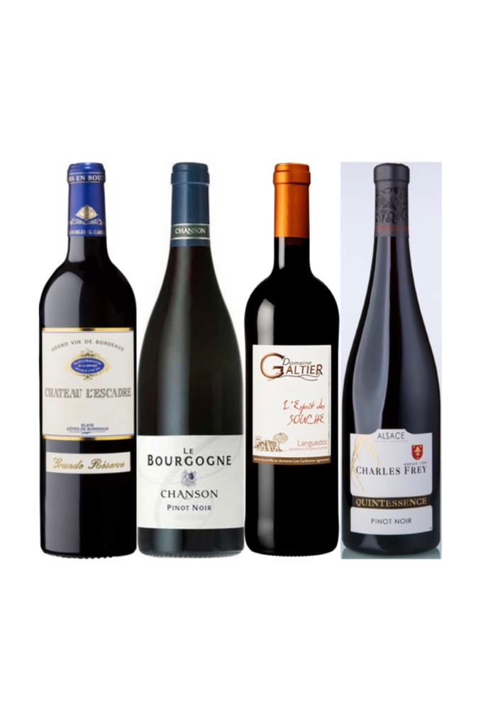 45% OFF 4 Bottles Of French Wine From 4 Different Regions!