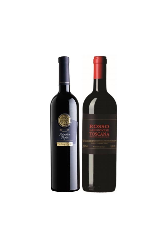 Barocco Primitivo Puglia IGT + Avignonesi Toscana Rosso IGT at Only $68