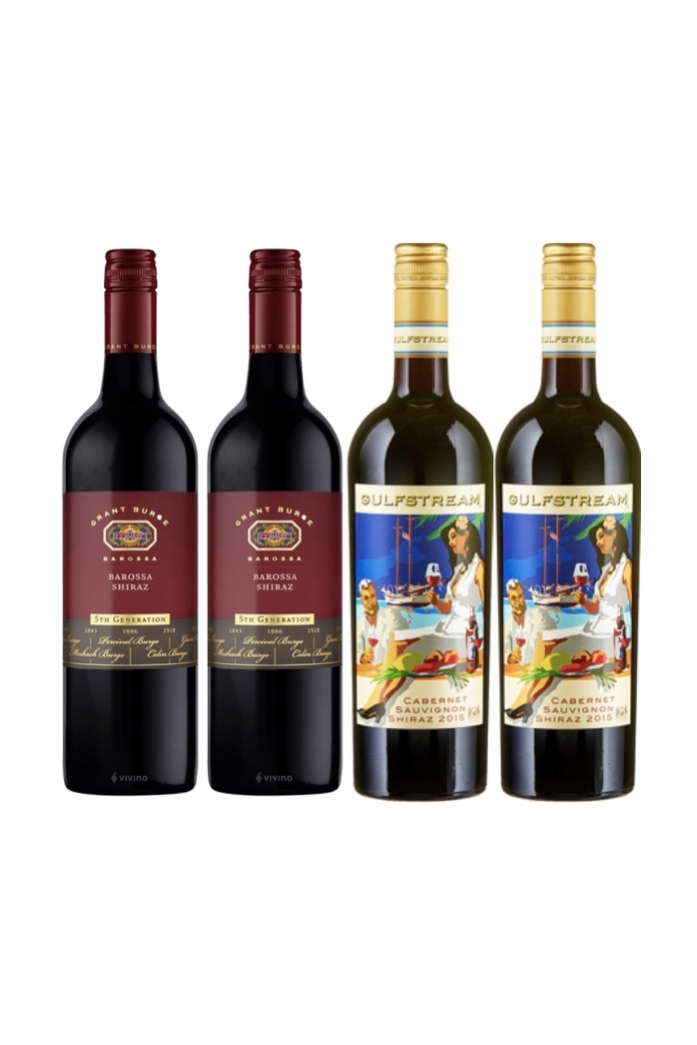 Aussie Red Special! 4 bottles of Shiraz at only $108!