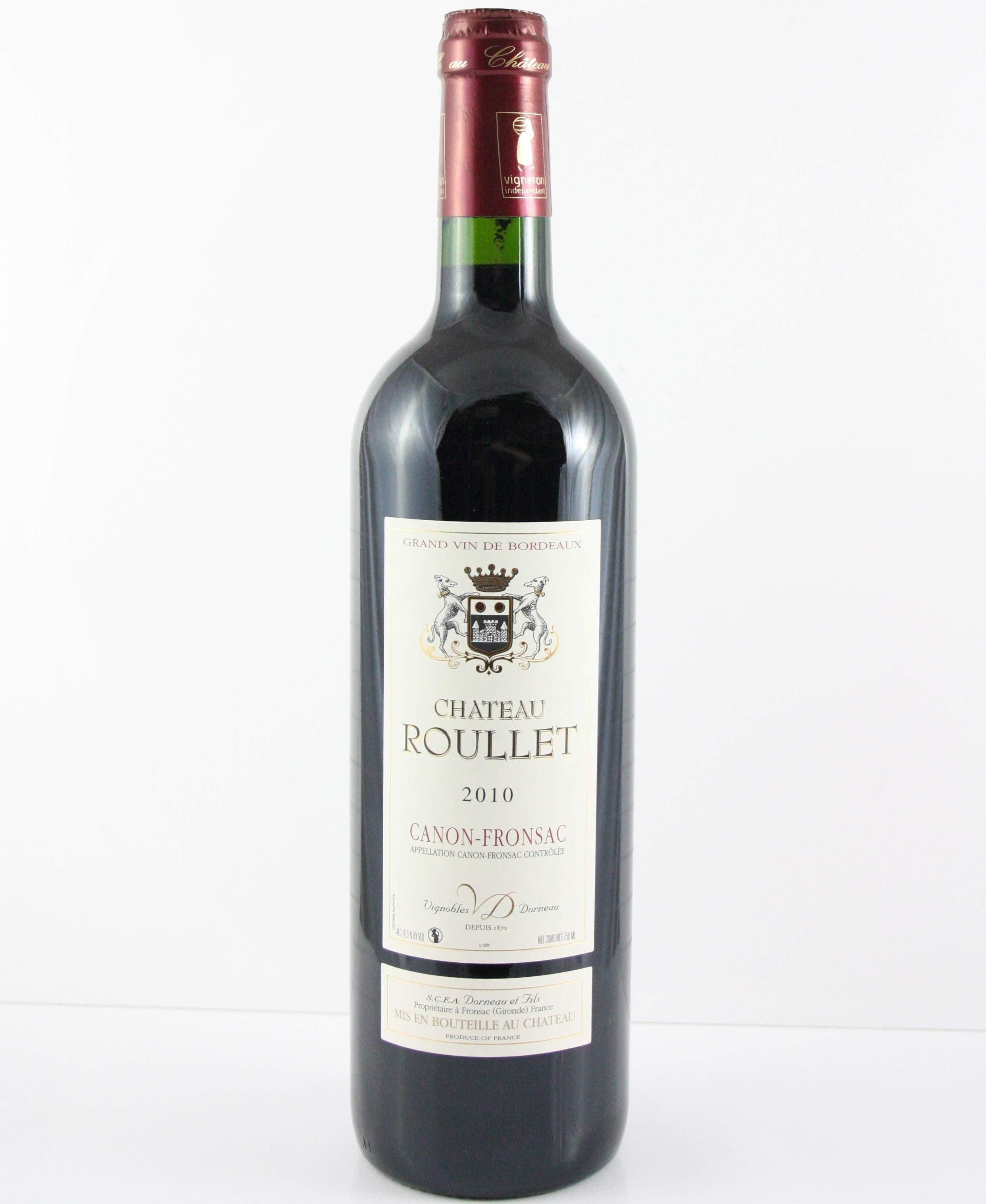 Vignobles Dorneau, AOP Canon Fronsac Chateau Roullet, 2012