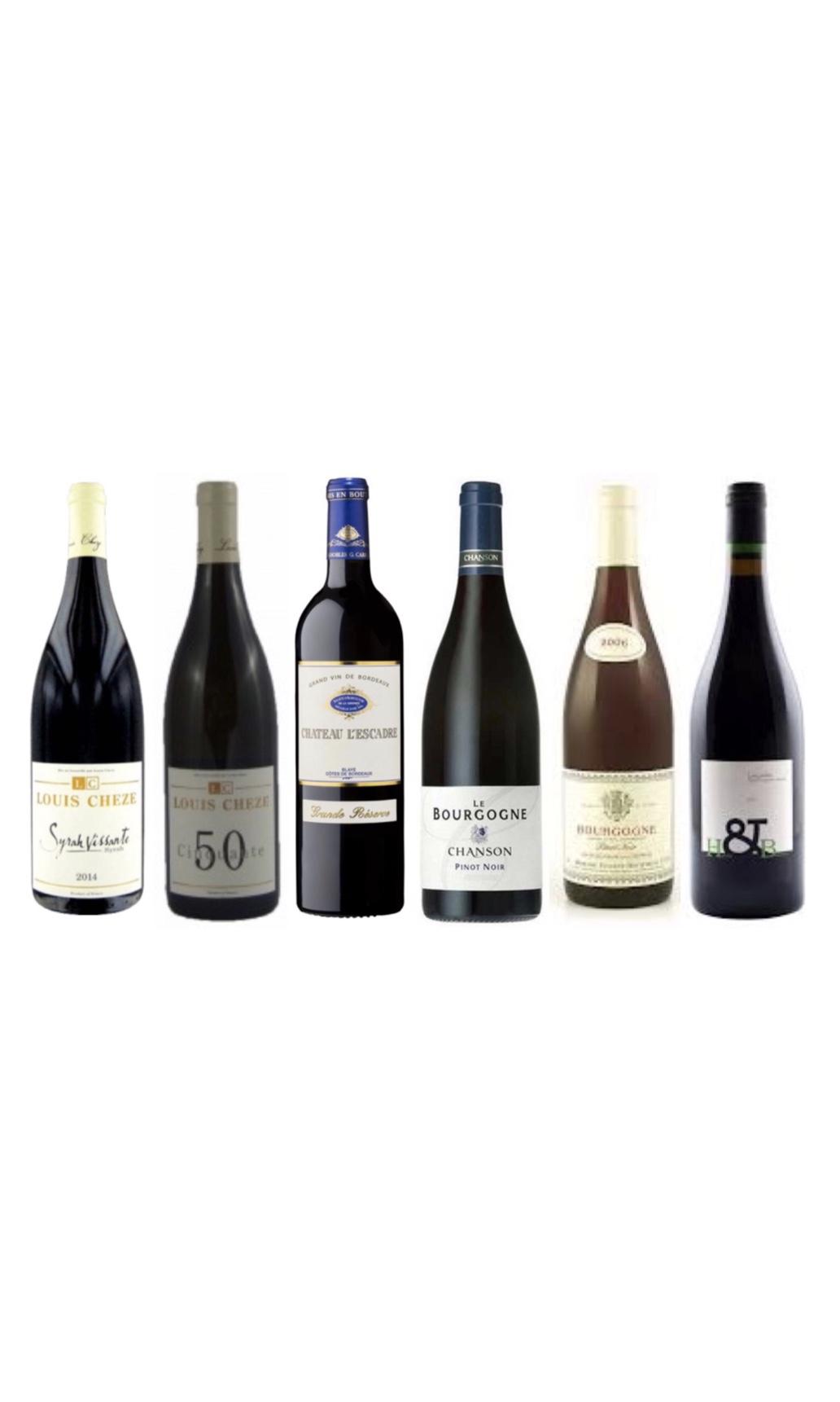 French Red wine tasting bundle