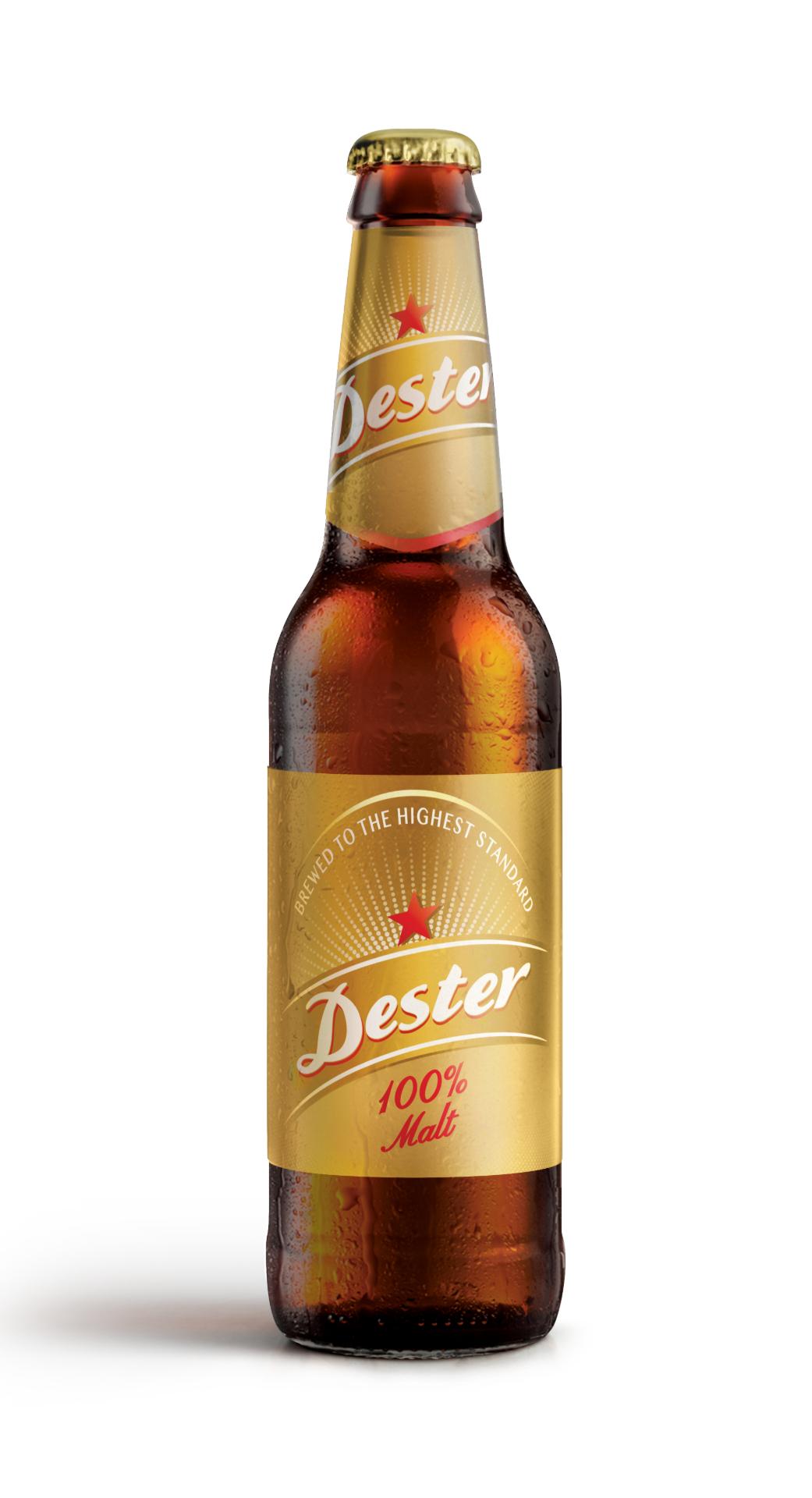 24 bottles of Dester Gold 100% Malt Beer