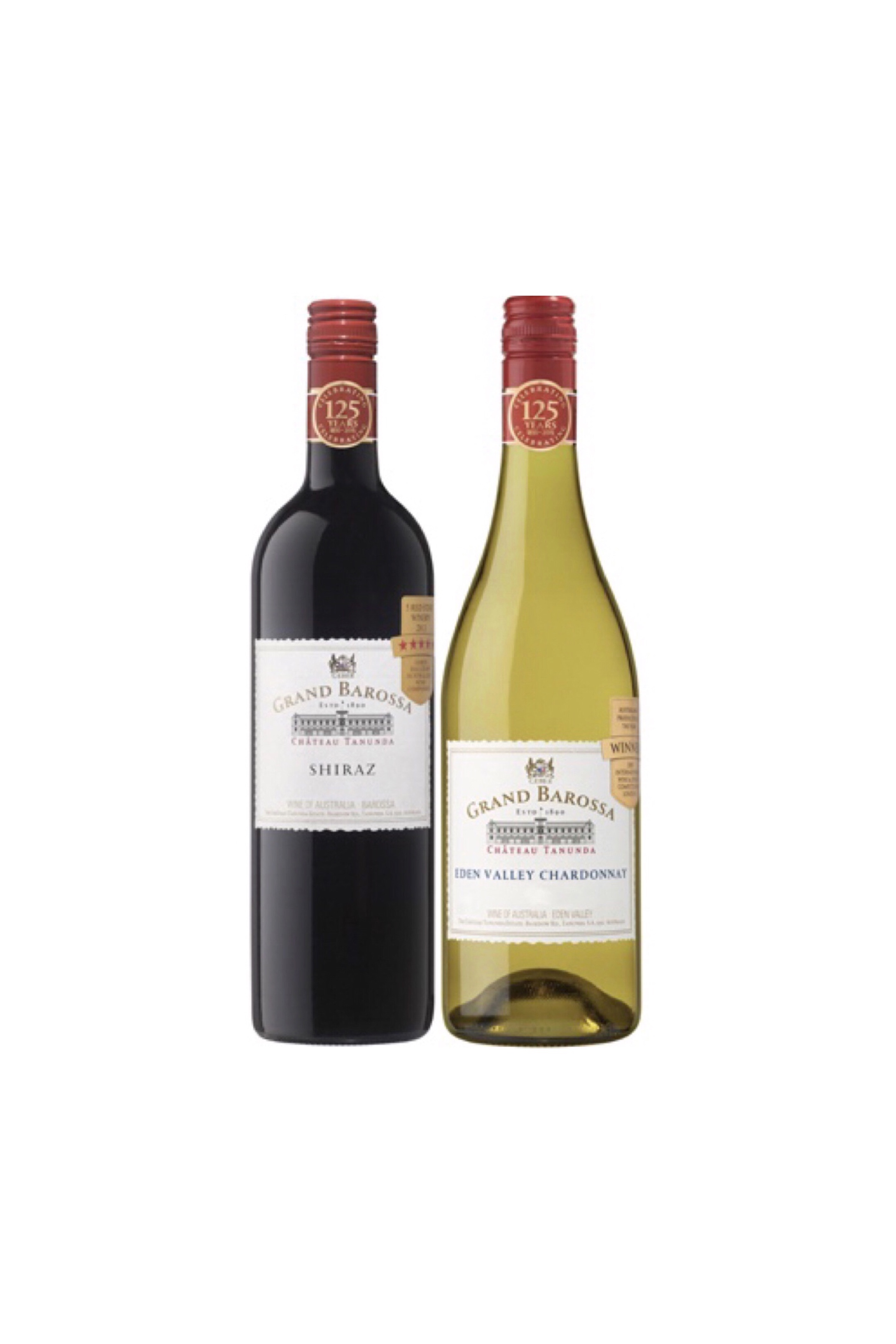 Award Winning Grand Barossa Shiraz And Chardonnay Bundle Plus One FREE Bottle Of Wine Worth $48