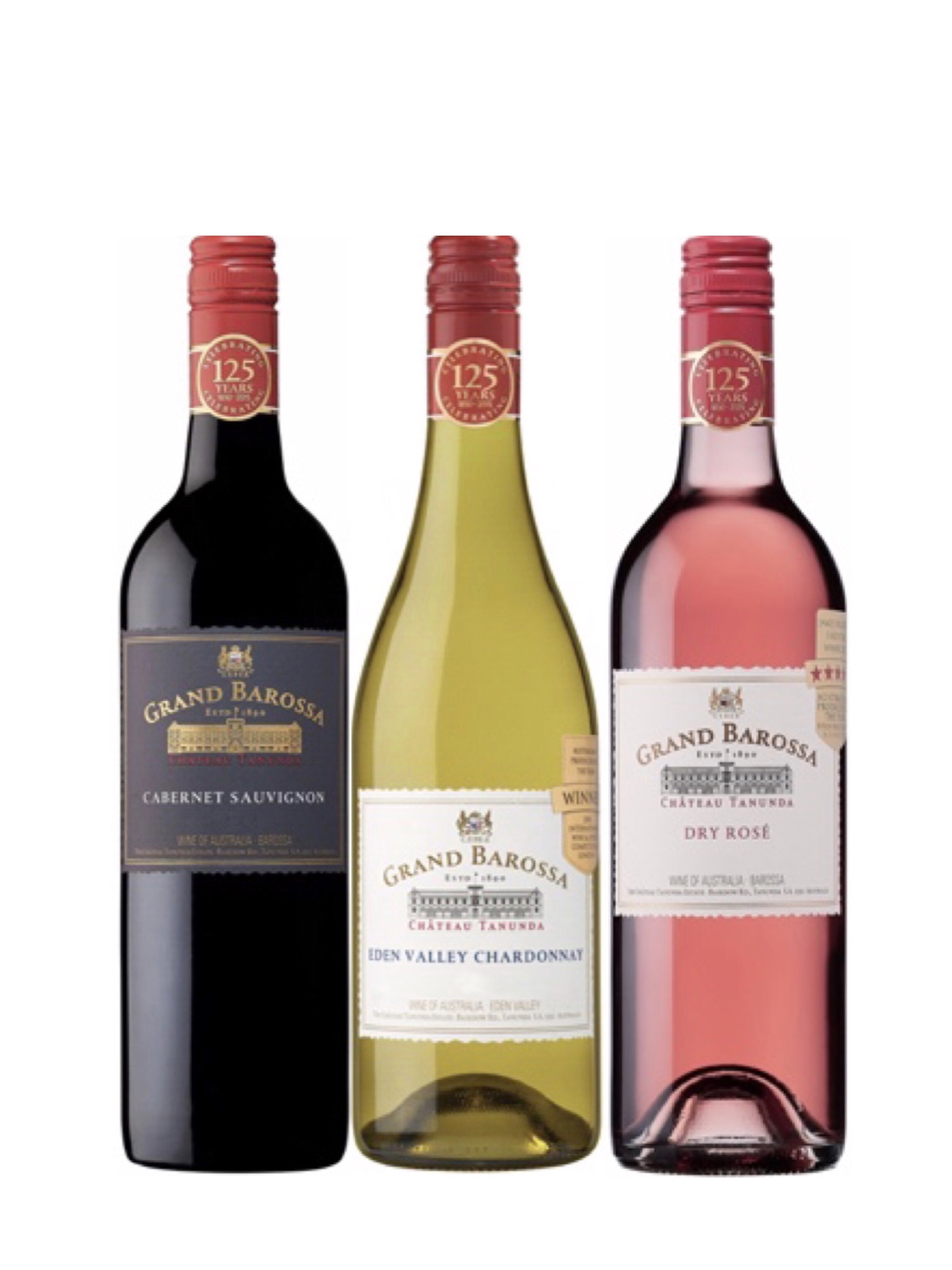 Award Winning Grand Barossa Cabernet Sauvignon And Chardonnay Bundle Plus One FREE Bottle Of Wine Worth $48