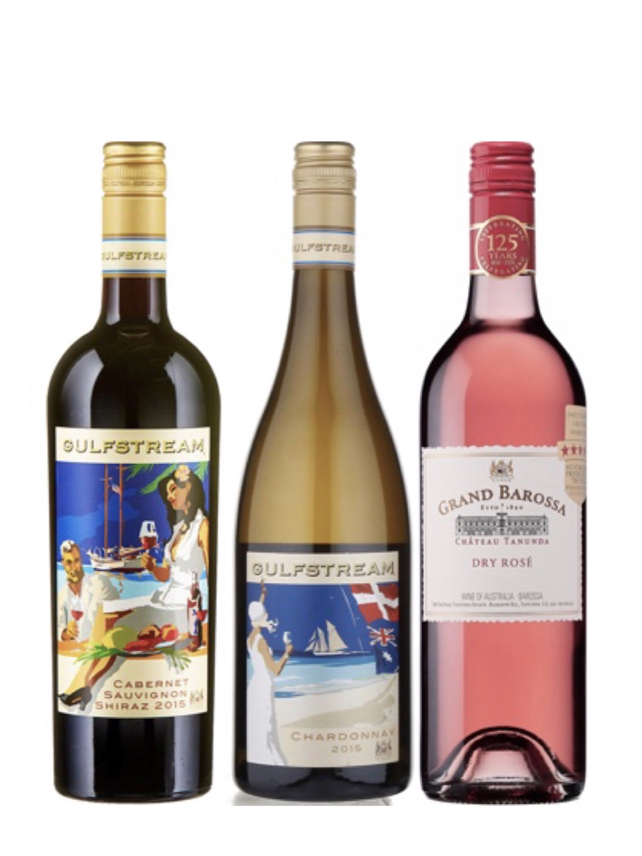 Award Winning CHÂTEAU TANUNDA GULFSTREAM Bundle Plus One FREE Bottle Of Wine Worth $48