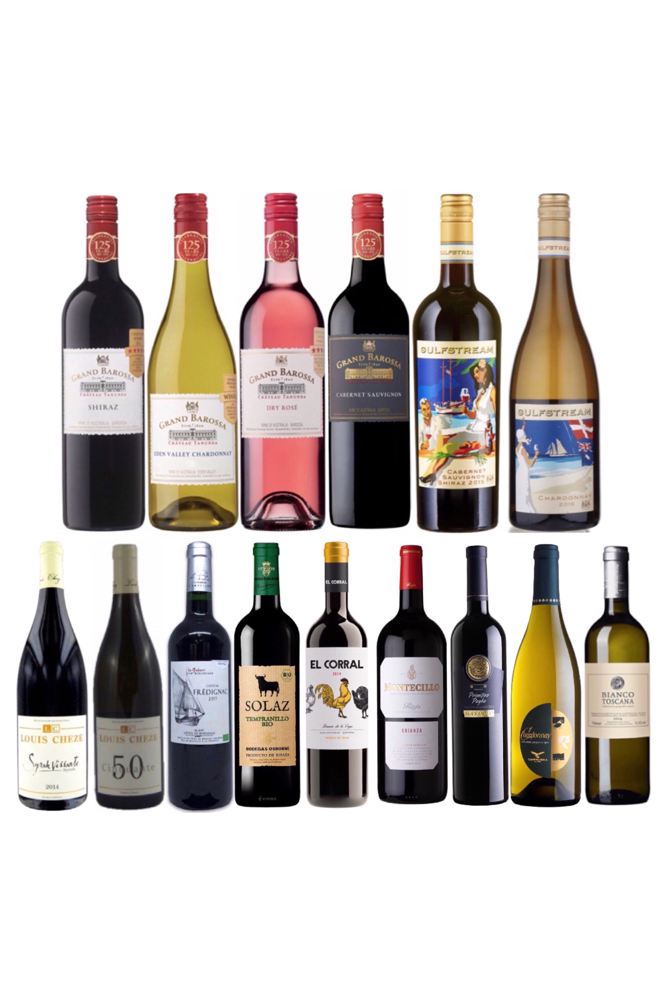 Choose any 2 bottles of wine and get 1 Free WITH FREE DELIVERY only at $108!