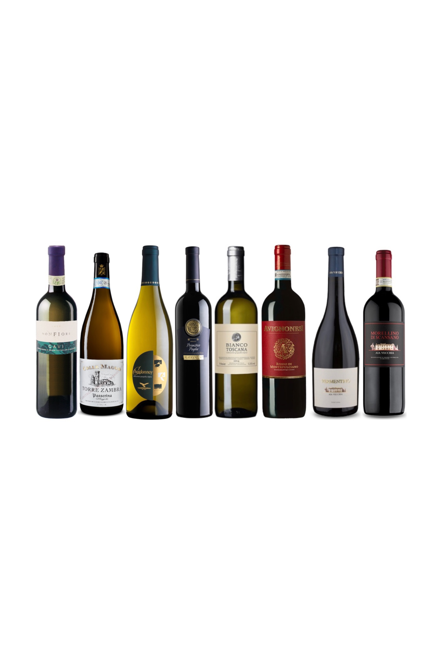 Pick any 4 Quality Italian Red and White Wine at only $188