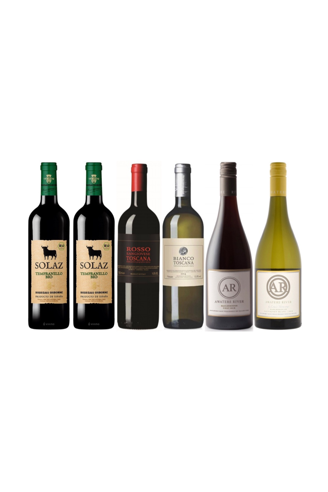 Spanish, Italian and New Zealand Organic Wine Value bundle