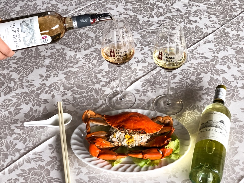 Páng Xiè (螃蟹, Crab) Fā Cái: Cold Crab with French Wine