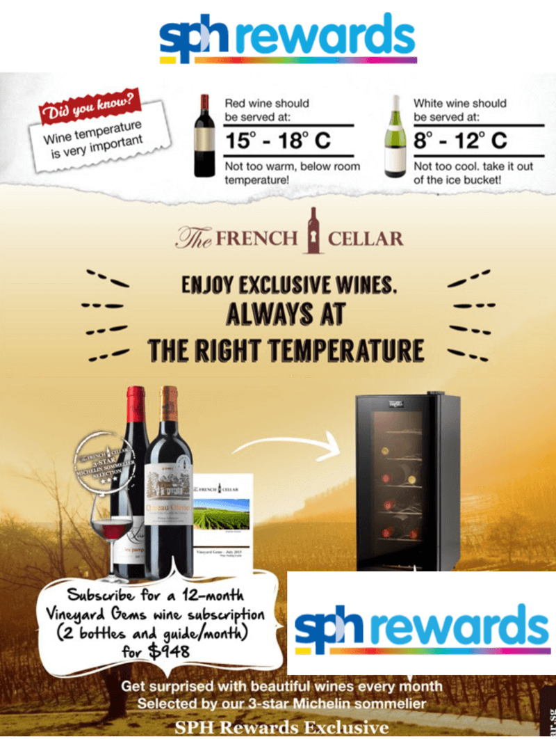 Exclusive wine subscription offer for SPH Rewards Members