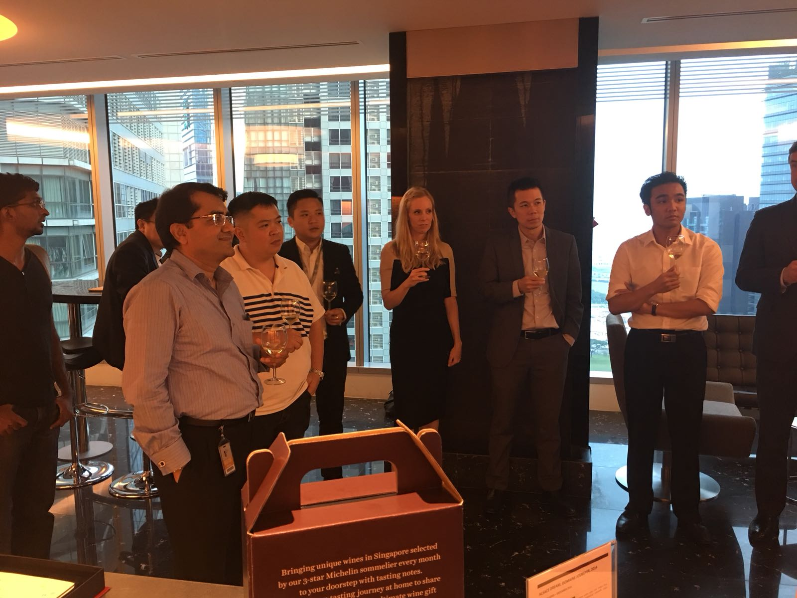 Corporate Wine Tasting event with Thomson Reuters