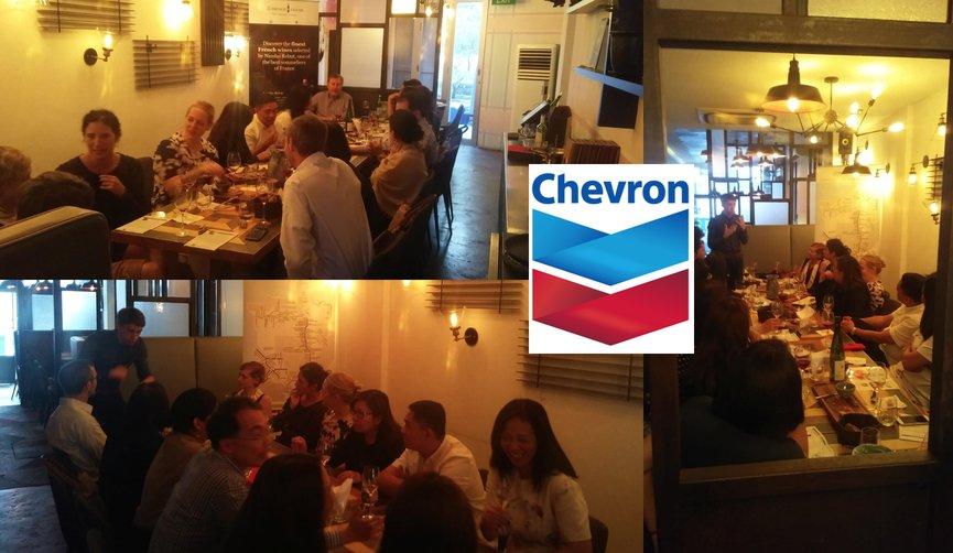 Corporate Wine Appreciation event with Chevron