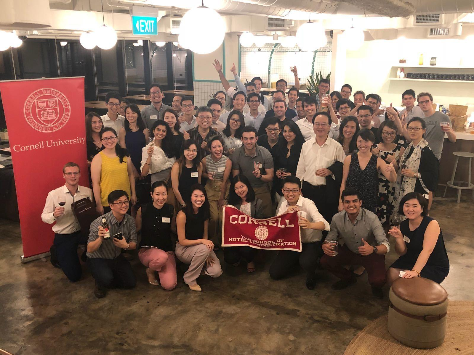 Cornell University alumni wine tasting in Singapore
