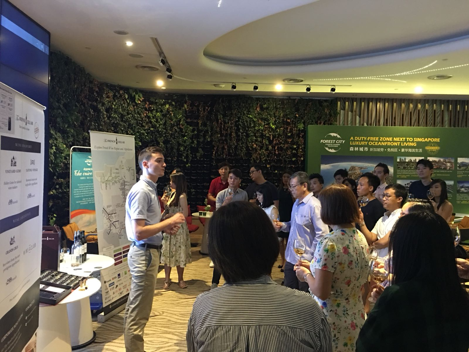 Corporate Wine Tasting event with ExxonMobil Singapore