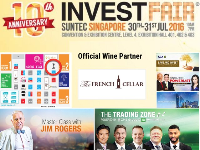 INVESTFAIR Singapore 2016 - The French Cellar Asia Official Wine Partner