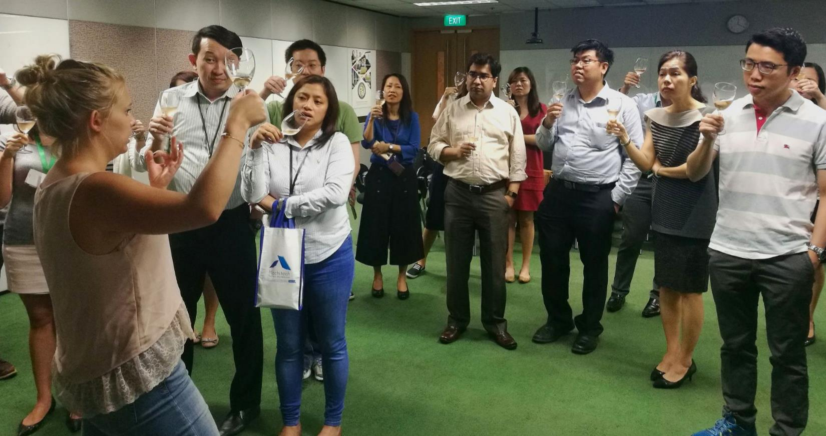 Corporate Wine Tasting event with Manulife Singapore