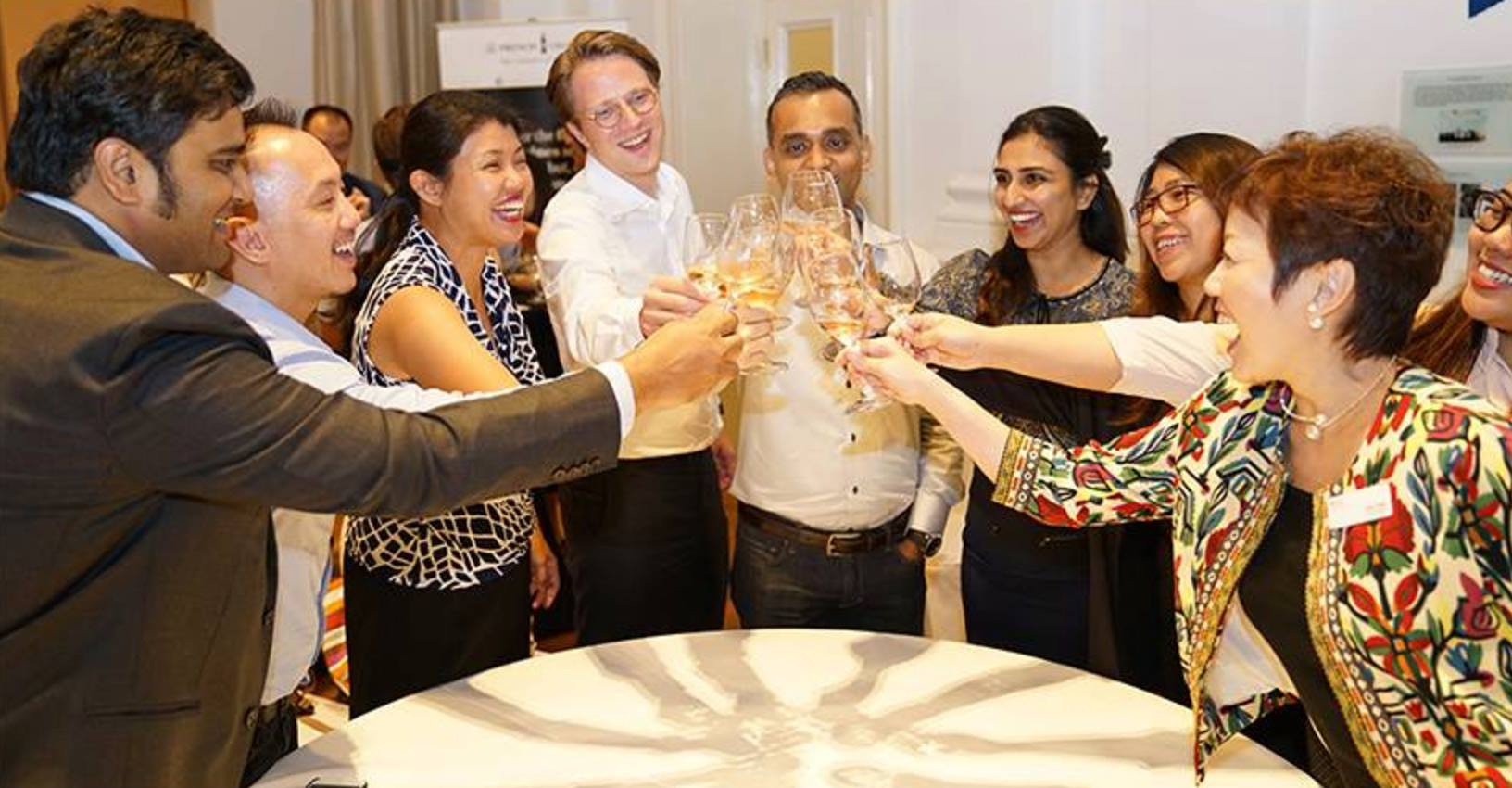 Alumni Wine Tasting event with Nanyang Business School