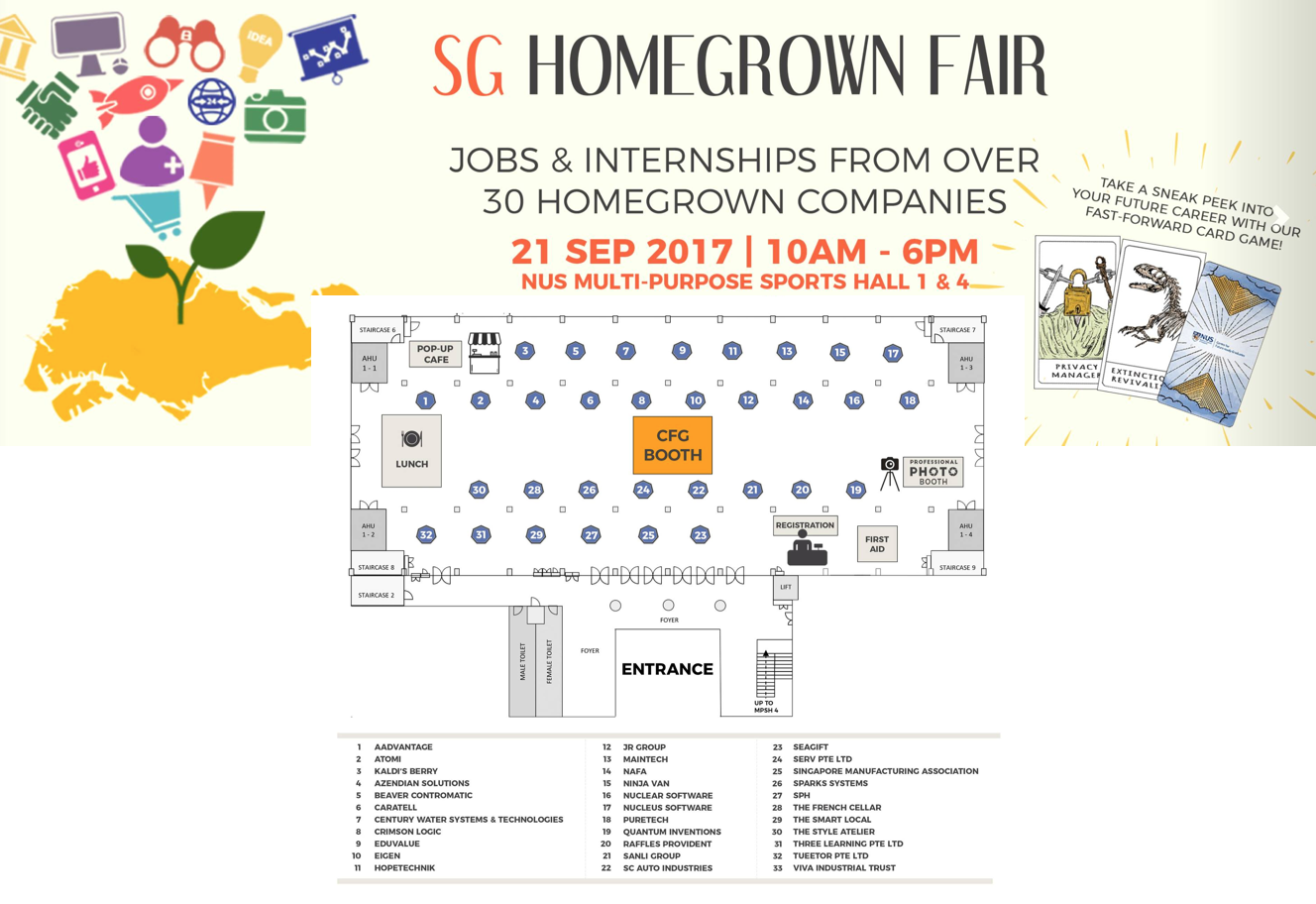 NUS Career Fair - Internships & Full-time positions available