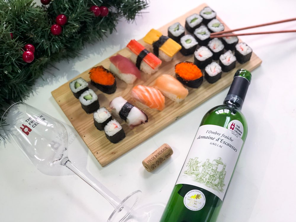 ♫ Oh, Bring Us a Plate of Sushi and a Cup of Good Wine ♫