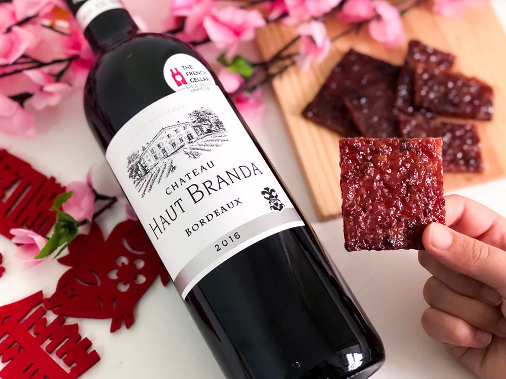 Wine & Bak Kwa for the Year of the Pig