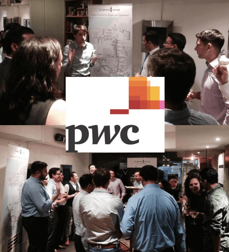 Corporate Wine Appreciation event with PWC