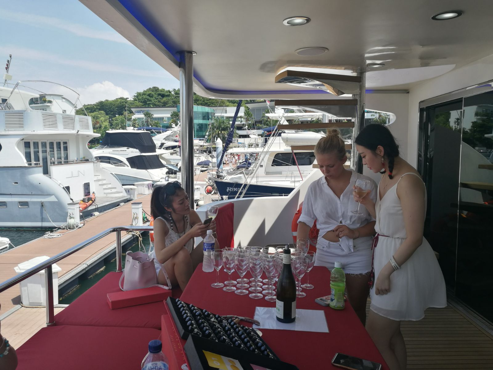 All White Yacht Party by Luxury Sensations Group  & The French Cellar Wine Tasting